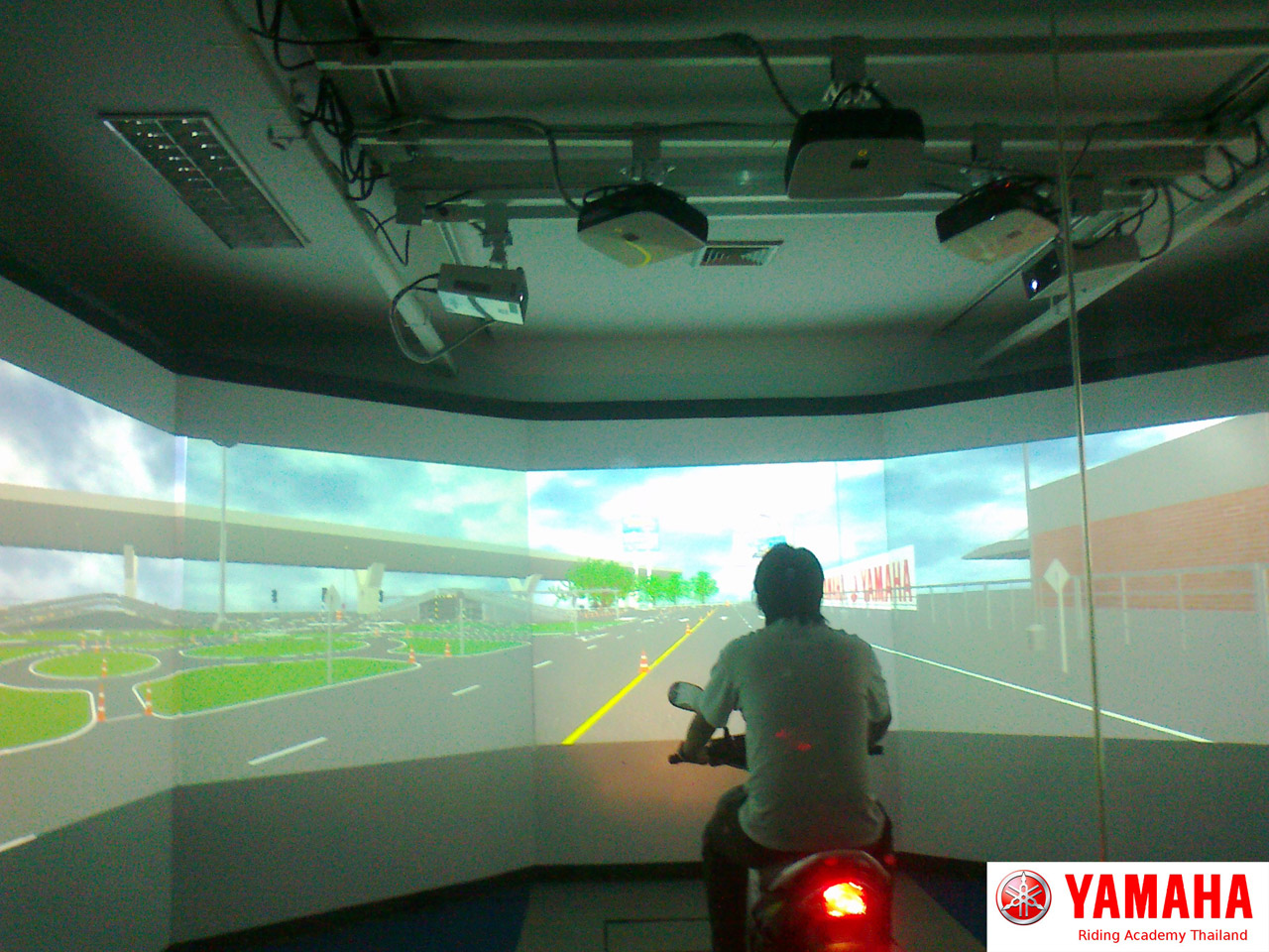 Riding simulation project multi screen simulator for Simulatore 3d