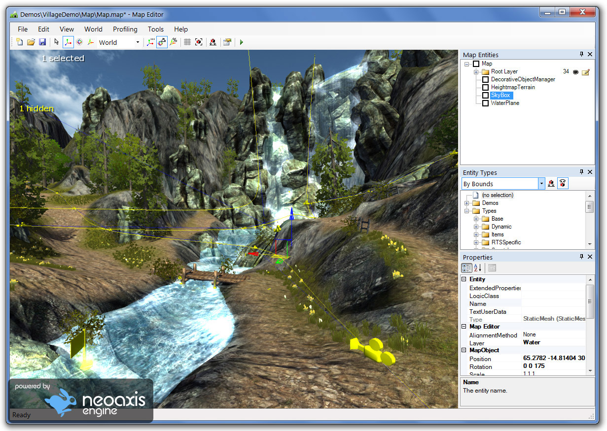 Neoaxis game engine 1 1 released neoaxis 3d engine 3d editor