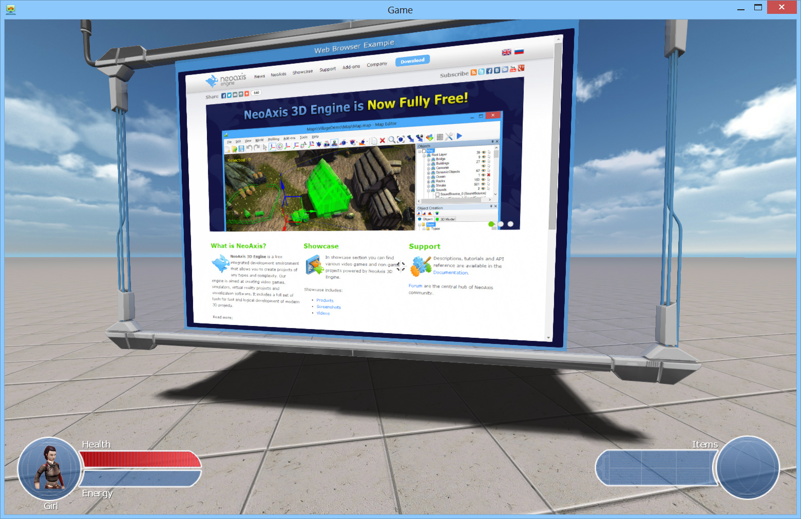 Neoaxis 3d engine 3 1 released neoaxis 3d engine 3d web browser