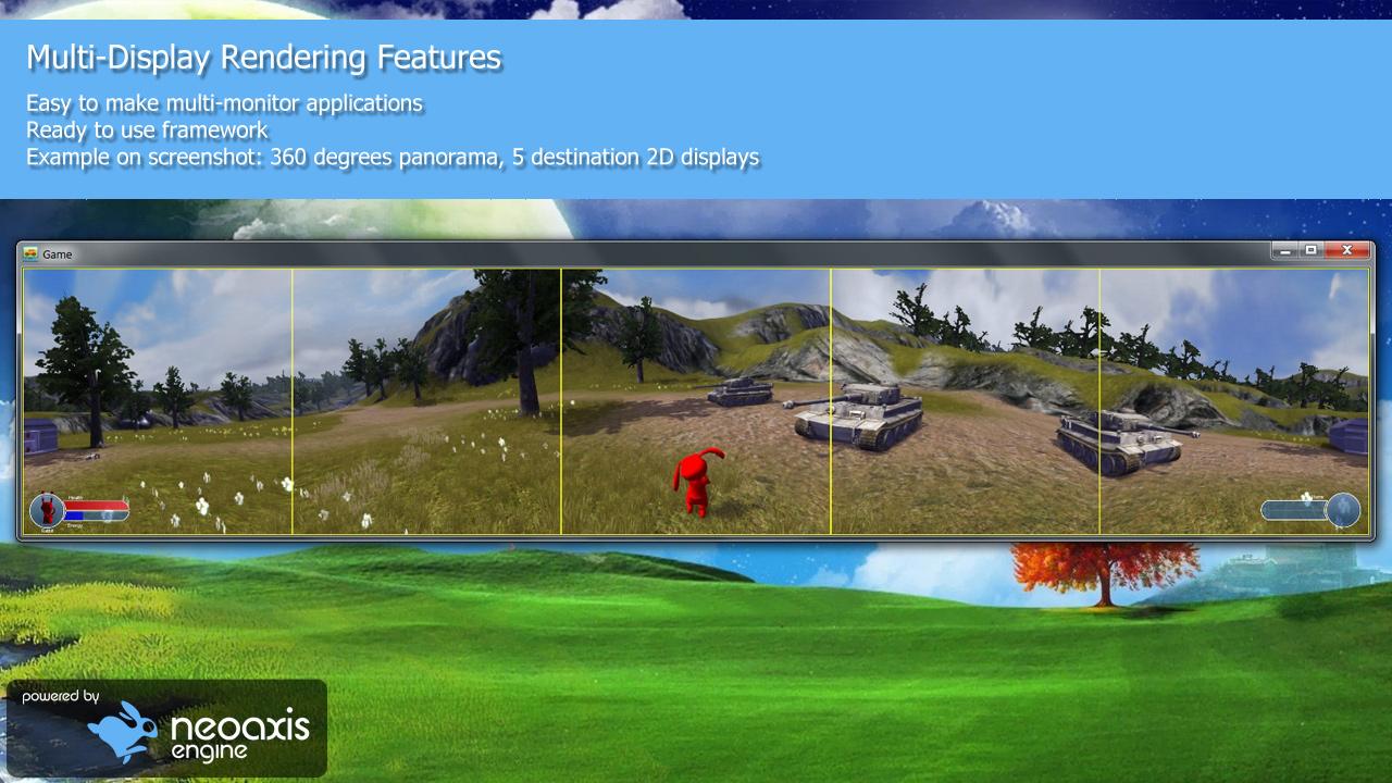 Le multi-écrans est aussi supporté en version classique, sur une seule machine